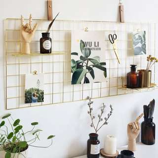 🆕 Gold Grid Wall Decoration