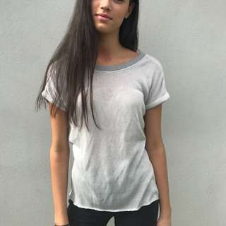 GREAT QUALITY HIGH END GREY TEE