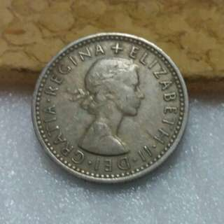 UK Coin 6pence 1969 (keydate)