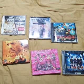VCDs on elite/special forces movies.