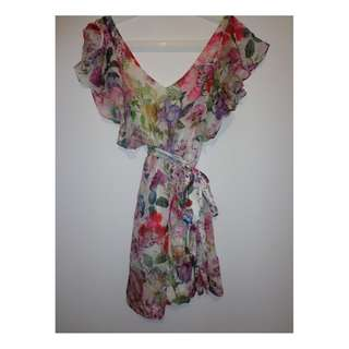 Forever New Floral 100% Silk Dress
