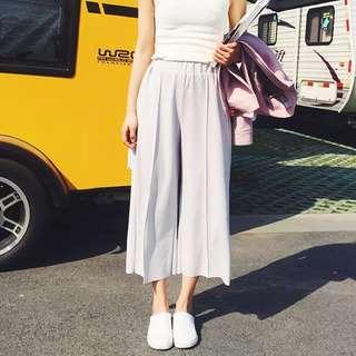 Pale Grey Culottes