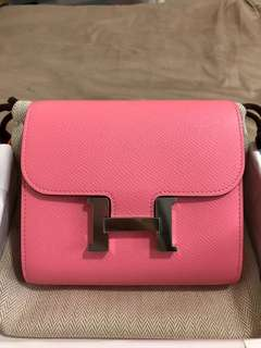 💯%Authentic New Rose Confetti Constance Compact wallet in Phw,Stamp A. Full set with receipt.