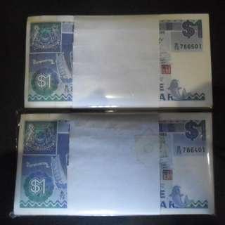 200 run Singapore $1 Ship Note