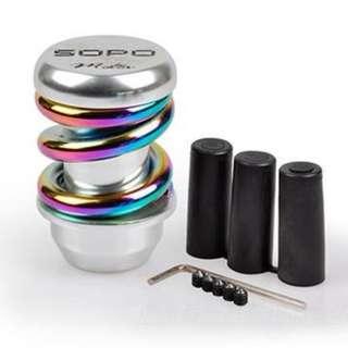Gear Knob - MOMO SOPO Coilover Rainbow Colour series Heavy Knob - (BRAND NEW WITH BOX) - RESTOCK