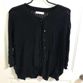 ‼️衣櫃出清‼️黑色針織外套