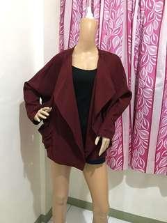 NEW Size M/L Korean Style Blazer Maroon
