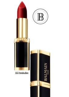 L'Oreal Paris x Balmain Lipstick 355 Domination