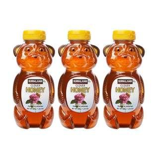 好市多科克蘭小熊造型蜂蜜 3入/組