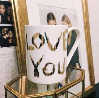 Franc Franc Love You Mug Cup Glass