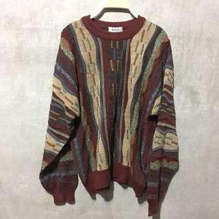 Vintage 韓國製 古着 古著 羊毛立體羊毛毛衣