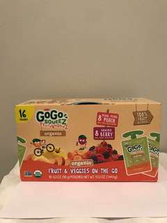 Go Go Squeez Fruits&Veggiez(90gx16包) 嬰兒有機即食果蓉(peach/berry)