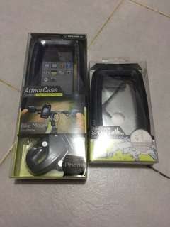Iphone 5/5S Bike Mount and Waterproof Shock + 1 FREE CASING