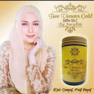 Jue Aziz Bee Venom Gold Coffee Vit C - 15 Sachets