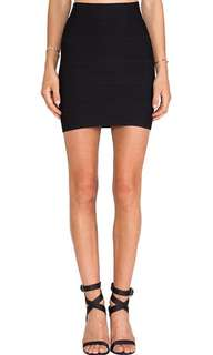Xs bcbg black bandage skirt