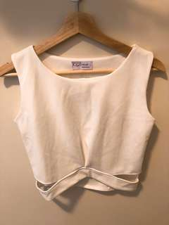 Korea white crop top