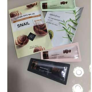 Innisfree Skincare Samples