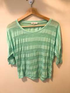Forever 21-Mint green sheer top
