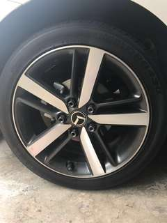 Kia K3 17 inch Rims and Tyres