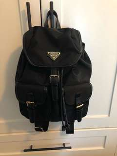 Black Backpack (mini-medium size)
