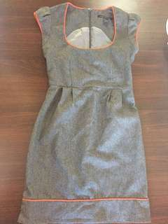 Grey french connection dress