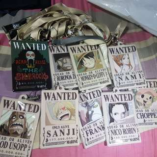 One Piece Wanted Lanyard