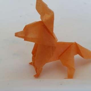 Tissue Paper Origami Fox