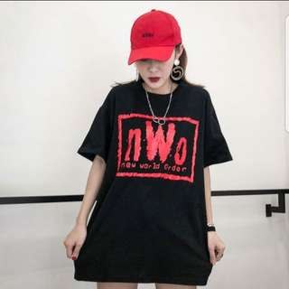 [PO] Korean Ulzzang 'New World Order' Black Oversized Tee/Top