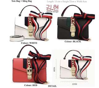 2 way Ribbon straps bag