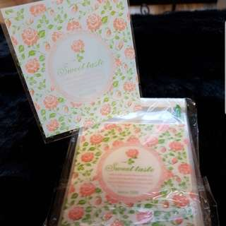 New Peach Sweet Taste Design Cookie Plastic Pouch 10cm