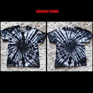 Handmade TIE DYE SHIRT (Spiral) for kids age 5-6 years old.