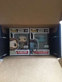 Funko Pop Star Wars Obi Wan kenobi Aaayla Secura