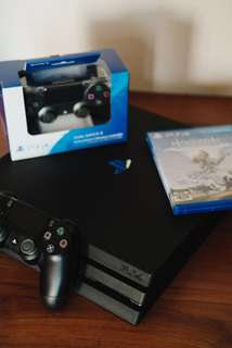 Playstation 4 PRO 1TB Black w/ 2 wireless controllers and Horizon Zero Dawn Complete Edition (opt)