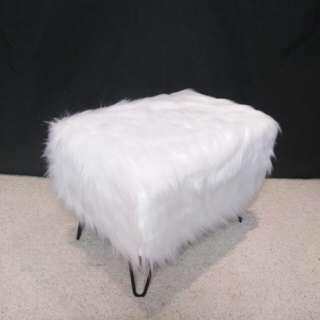 Custom Made Fur Ottoman