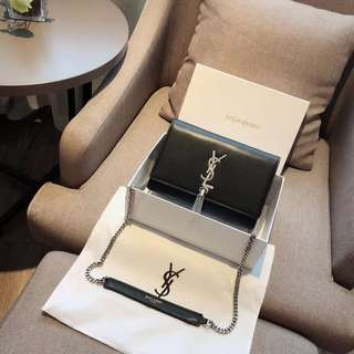 Ysl double envelop cross body