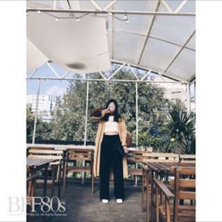 BFF80s 韓 冬款高腰寬管落地褲 (黑)