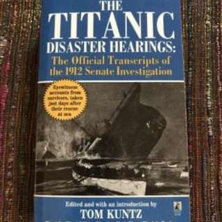Book the titanic disaster hearing
