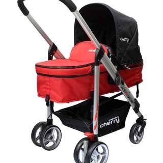 Baby stroller - sweet cherry