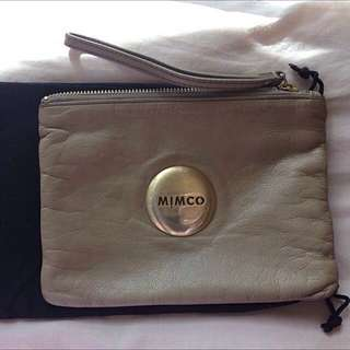 Mimco Medium Pouch - cream
