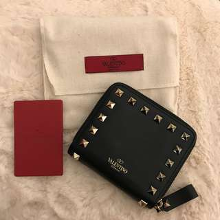 Valentino Wallet - Black Rockstud Mini