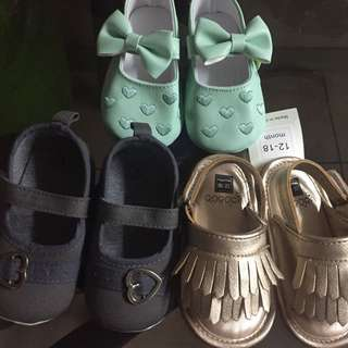 12-18months shoes take all (3sets)