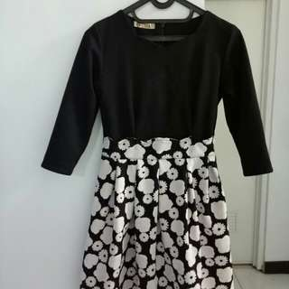 Dress Black n White