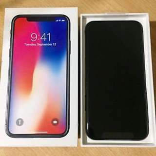 Orig iPhone X 64GB Open line complete with receipt
