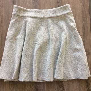 Club Monaco Grey Wool A-Line Mini Skirt