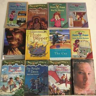 Books only the heart magic tree house junie b jones of mice and men Hugo pepper