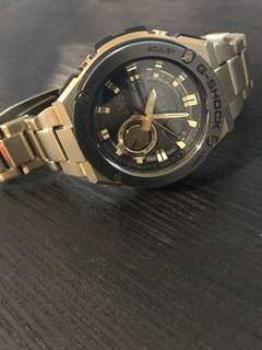 G-Shock G-Steel gold watch