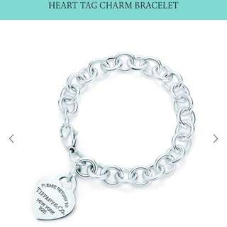 AUTHENTIC - Tiffany and co. Heart tag bracelet