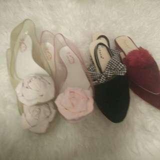 Sepatu flat @30rb take all 100rb nett
