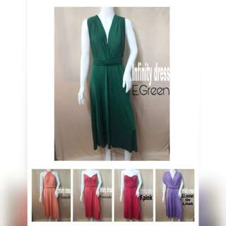 INFINITY DRESS PLAIN MAXI & ANKLE LENGTH