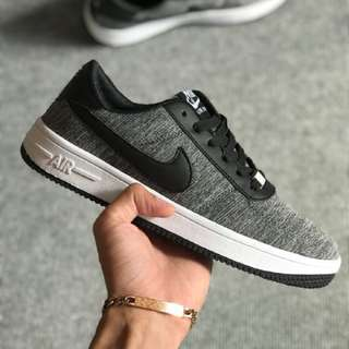 Nike Airforce Flyknit Black White Sneakers